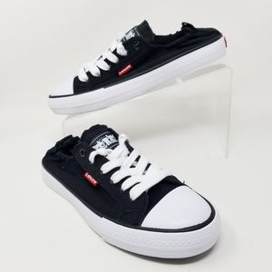 Levis Stan G Girls Sneakers Black Denim Size 6